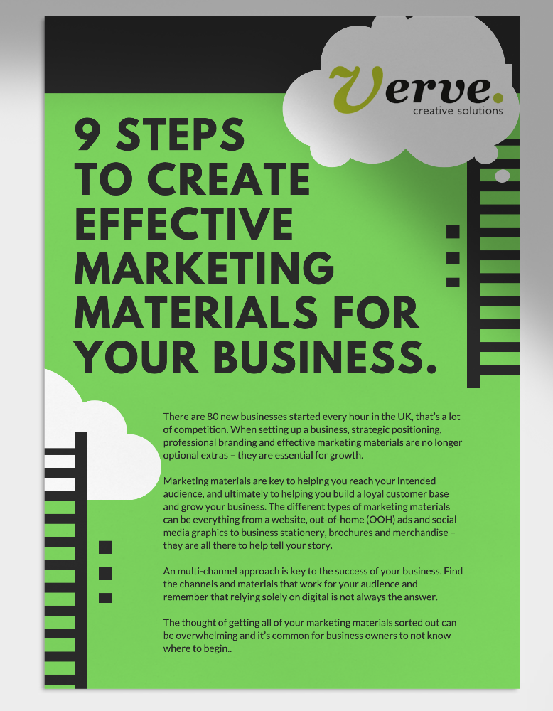 How to create effective marketing materials